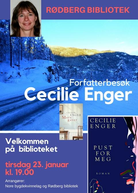 Cecilie Enger kommer til biblioteket 23. januar
